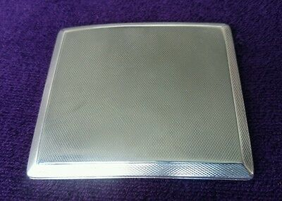 ** ART DECO SOLID SILVER WALKER & HALL CHESTER CIGARETTE CASE 4.3oz / 122g **