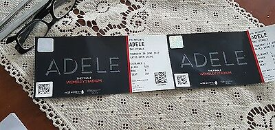 x2 ADELE FINALE WEMBLEY TICKETS Wednesday 28th June