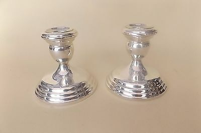 "Wallace Sterling Silver 3.5"" Weighted Candlesticks"