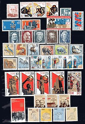 East-Germany/DDR/GDR: All stamps of 1975 in a year set complete, MNH