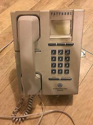 Southwestern Bell Telecom Payphone 1980'S Retro Vintage Antique Telephone