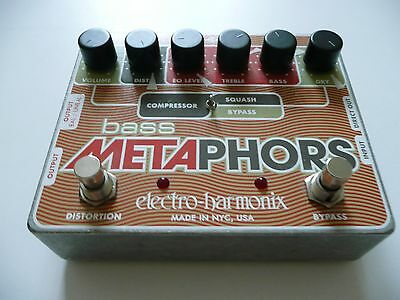 Bass Metaphors Preamp/EQ/Distortion/Compressor/DI Multi-Effect with PSU & manual