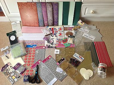 Job Lot Of Card Making, Punch, Stickers, Paper, Edging Scissors, Embellishments