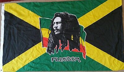 Bob Marley Themed Jamaica Freedom Flag