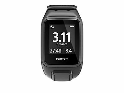 TomTom Spark GPS Multi-Sport Fitness Watch with Music, Large Strap - Black