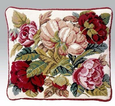 EHRMAN BLOOMING ROSES CREAM David Merry needlepoint tapestry kit NEW UNOPENED
