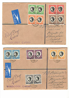 South West Africa Kgvi 1937 Coronation Fdc Registered Set To Selfridges England