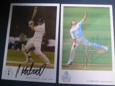 Signed Classic Cricket Card   Craig White  Yorkshire  Ccc/england
