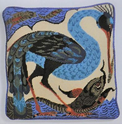 EHRMAN 1992 BIRD CATCHING A FISH NEAL McCALLUM TAPESTRY NEEDLEPOINT unused rare