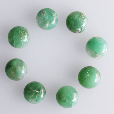 4MM Round Shape, Chrysoprase Calibrated Cabochons AG-239
