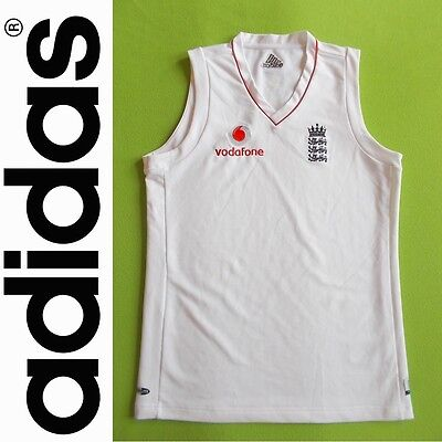 Vest ENGLAND (S) ADIDAS 2008/2009 PERFECT !!! Jersey Cricket away Sleeveless