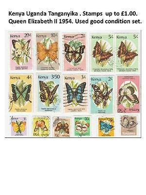 Kenya butterflies 1988 set of 13 stamps