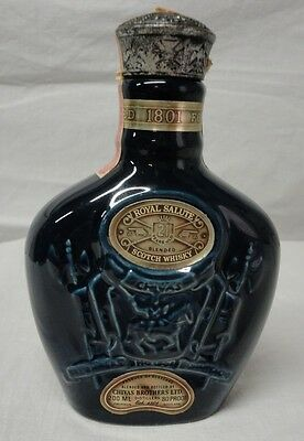 Wade Colbalt Blue 200Ml Chivas Royal Salute Scotch Whisky Liquor Bottle 1982
