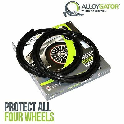 Alloygator alloy wheel protection protector system - black - set Of 4