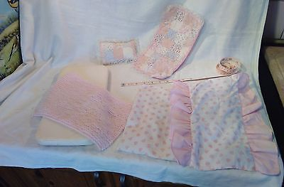 Sindy/Barbie sized doll mattress and bedding, blankets, pillow