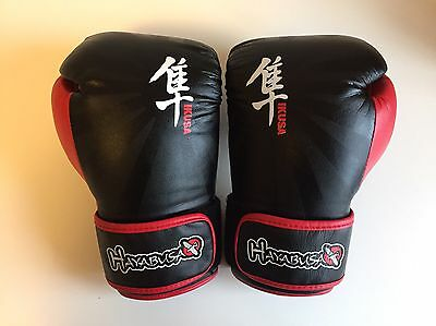 Hayabusa Boxing Gloves 14oz NEW Black+Red