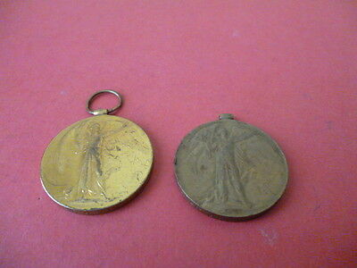 2 Genuine Ww1  Victory Medals To The Ramc & Re.