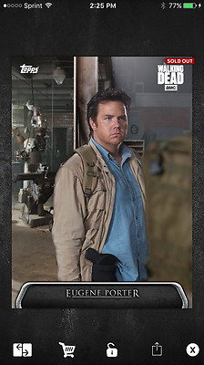 2017 Topps Walking Dead Card Trader PARALLAX Eugene Porter (638 cc) SOLD OUT