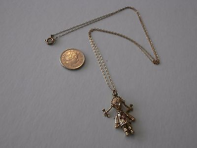 Fine 9ct gold necklace,reg doll and fine chain hallmarked
