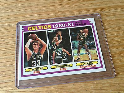 Larry Bird Vintage 1980s NBA basketball trading card