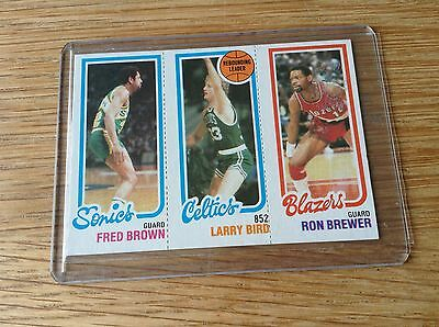 Larry Bird Vintage Early 1980s NBA basketball trading card