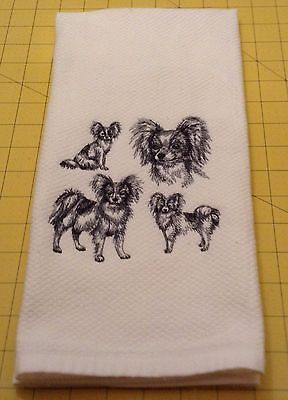 Papillon Collage Embroidered Wm Sonoma Kitchen Hand Towel,100% cotton