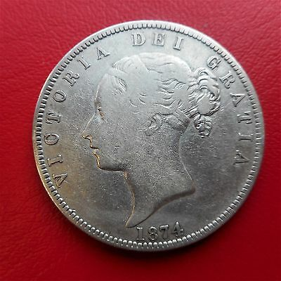 1874  Half Crown  VERY COLLECTABLE GRADE