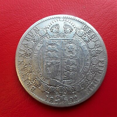 1892  Half Crown    DECENT CONDITION