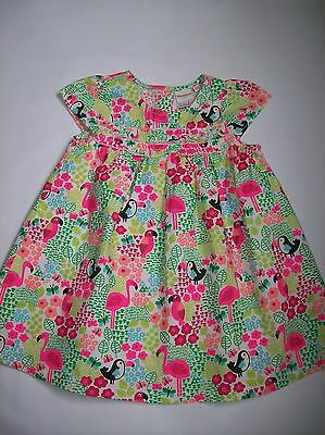 Blue Zoo Pink Flamingo Baby Dress NEW  12/18m   Free P/P. REDUCED