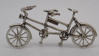 Vintage Solid Silver Tandem Miniature - Stamped - Made in Italy - Dollhouse