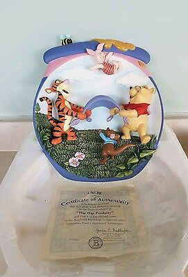 The Bradford Exchange Winnie the Pooh 3D Collectors Plate - HIP HIP POOHRAY