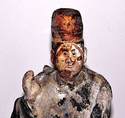 """Antique Chinese Ming Tomb Burial Pottery Figure Dignitary c.1368-1644 / 10.75"""""""