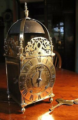 English Lantern Clock 17Th Century With Victorian Movement