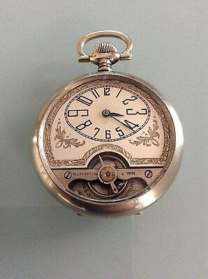 Vintage 8 day Relion Watch Co. Swiss Pocket Watch