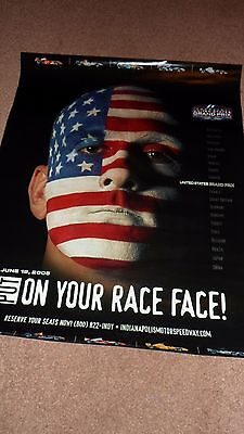 Formula 1 Poster.United States Grand Prix.2005.June 19th.Indianapolis.VGC.