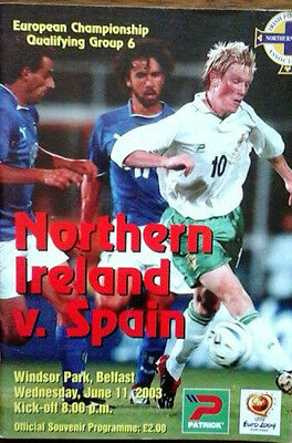 Northern Ireland V Spain 11/6/2003 Euro Championships