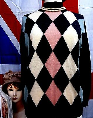 1940`s WW11 wartime vintage land girl style  retro jumper size 12 / 14