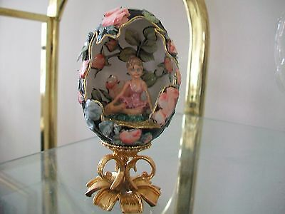 Hand decorated goose/ duck egg collector egg