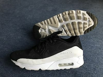 Mens Nike Air Max 90 Ultra Moire Trainers Black / While Size UK 11