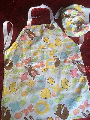 Childs Apron And Chef Hat One Size By Sainsbury Easter Design