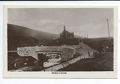 Real photo postcard of Weisdale Bridge Shetland,Scotland in very good condition