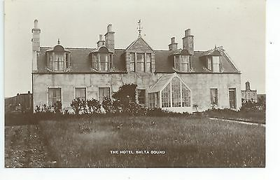 Real photo postcard of the Balta sound Hotel Shetland,Scotland in very good cond