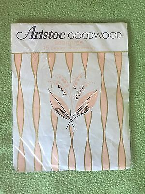 "Vintage Aristoc Goodwood Nylon stockings Size 10"" Colour Bourbon"