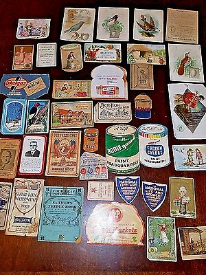 VTG Sewing Needle Advertising Books and Trading Cards Political, Grocers, Gas