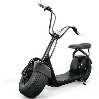 Electric Scooter Fat Tire E-Wheels City Coco 1000W BLACK