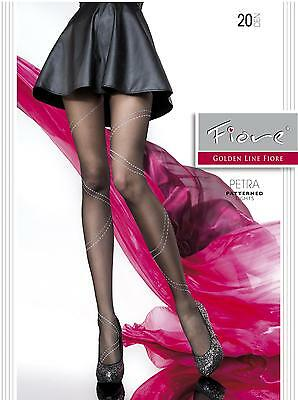 Petra pantyhose Fiore 20 den MEDIUM patterned sheer to waist tights
