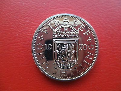 Superb 1970 proof Scottish shilling only 750,000 minted (ref e999)
