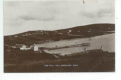 2nd Real photo postcard of Mid Yell Yell Shetland,Scotland in good condition