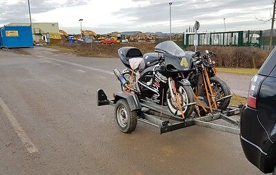 Double motorcycle trailer (Erde CH751)