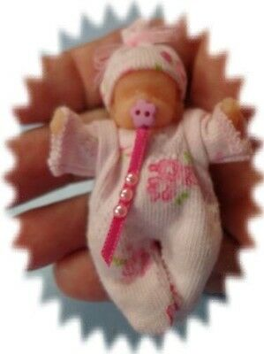 """ooak baby    Mini baby silicone 2"""" ** Rosy ** ..... created by LOU"""
